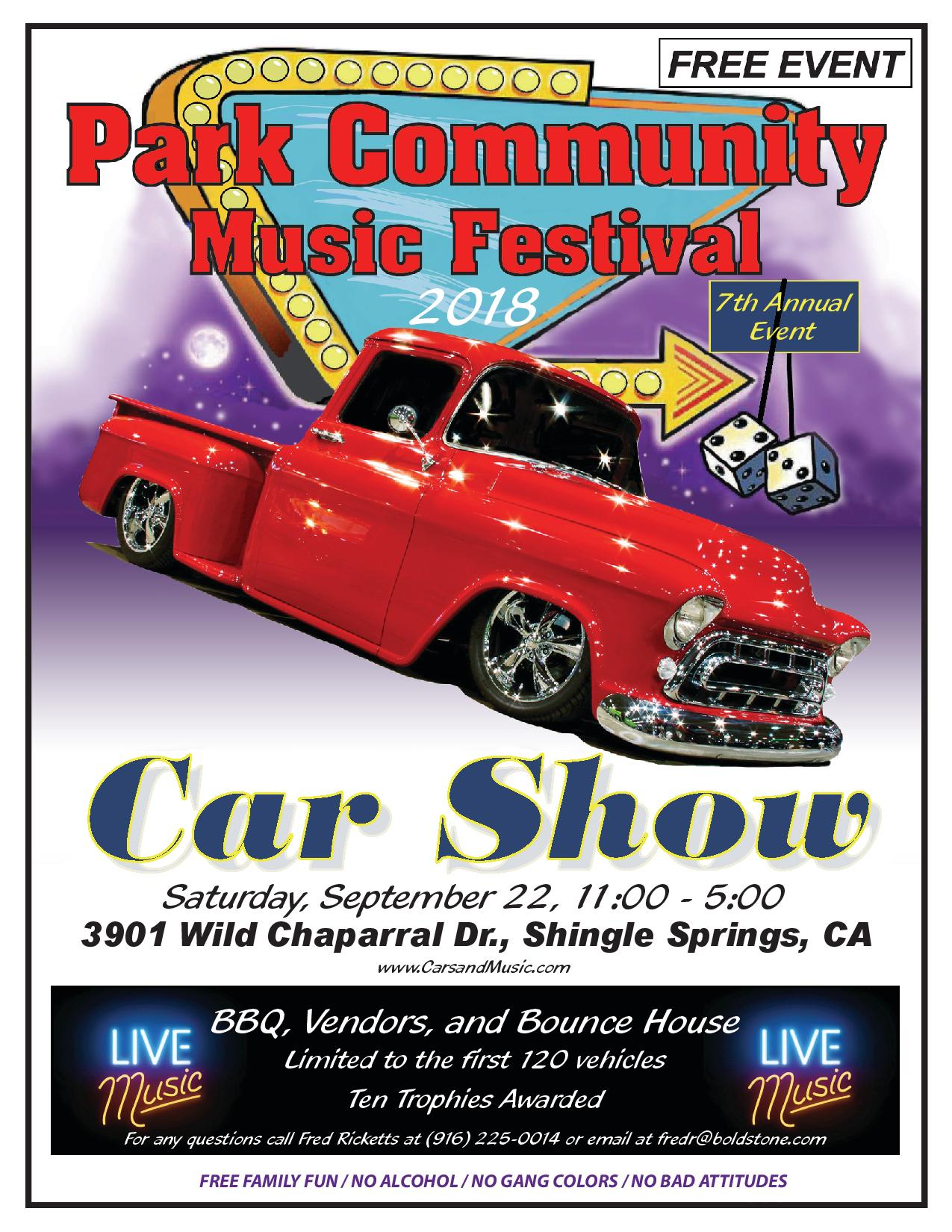 Cars and Music Flyer